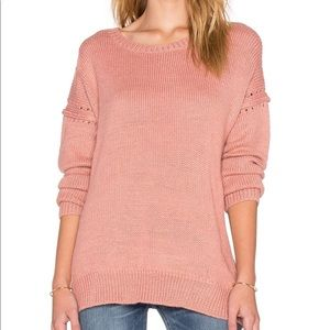 Wildfox coral / pink destroyed sweater